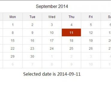 Create A Simple and Fluid Inline Date Picker with AngularJS