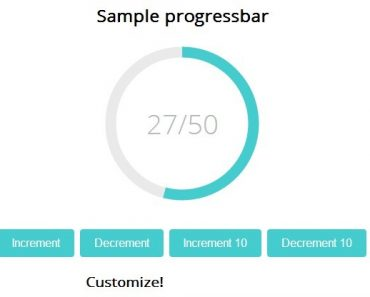 Dynamic Round Progress Bar with AngularJS and SVG