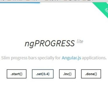 Nice Looking Slim Progress Bars Provider