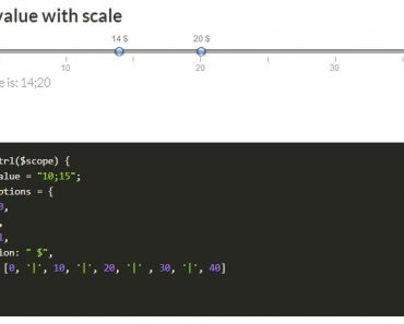 ng-slider Double value with scale