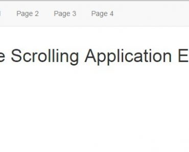 Angular Directive For Full Page Scrolling Applications