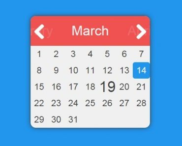 Simple Flat Date Picker with AngularJS