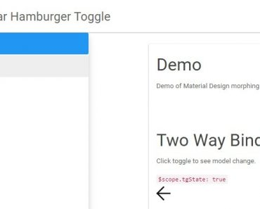 Angular Hamburger Toggle Menu