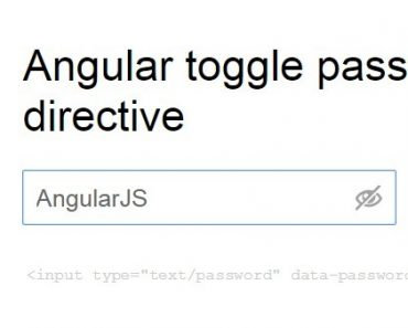 Angular toggle password directive