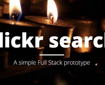 AngularJS Flickr Photo Search App