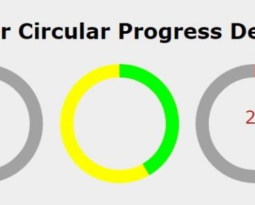 Angular Circular Progress