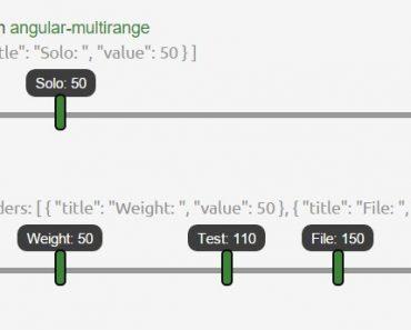 An Angular Multi Slider Directive