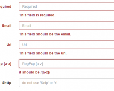 AngularJS Form Validation For Bootstrap