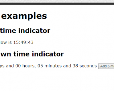 AngularJS Countdown Time Indicator