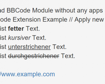 BB Code Extension