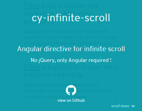Angular Directive For Infinite Scroll