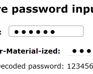 Angular Implementation Of Secure Password Input