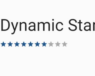Dynamic Star Rating Directive With Angular