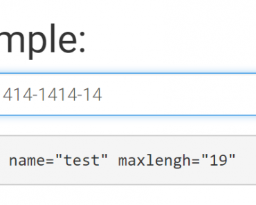 Simple Input Mask Directive For AngularJS