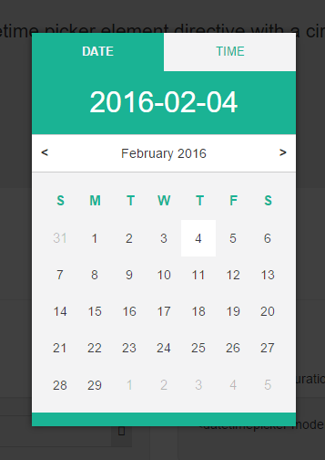 Angularjs date picker in Perth