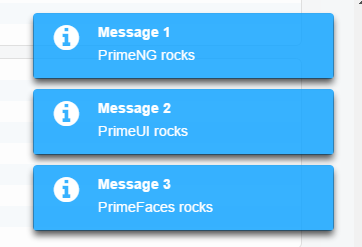 PrimeNG Growl Message