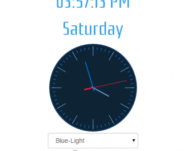 Responsive Angular Clock Widget