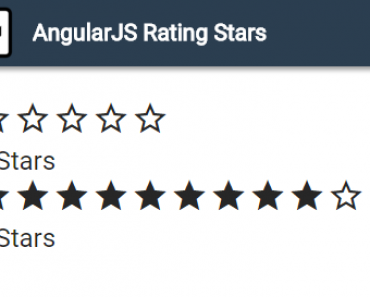 AngularJS Rating Stars