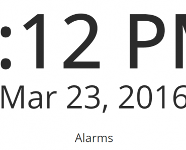 Simple Angular JS Alarm Clock