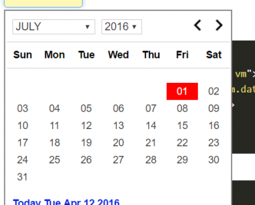 Lightweight AngularJS Datepicker Plugin