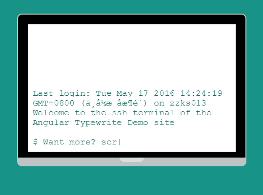Angular Typewriter Typing Effect