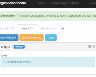 Generic Dashboard Widgets Functionality With AngularJS