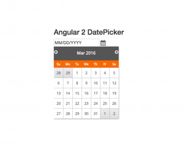 Simple Angular 2 Date Picker