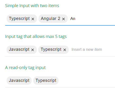 Tag Input Component For Angular 2