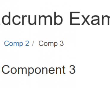 Angular 2 Component To Create Breadcrumb Trail