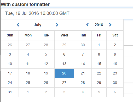 Angular 2 Datepicker Component