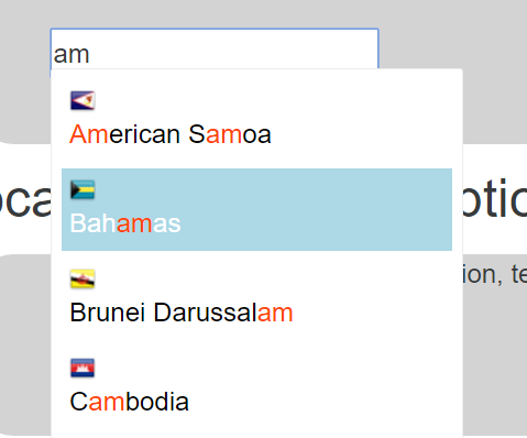 Autocomplete Component For Angular 2