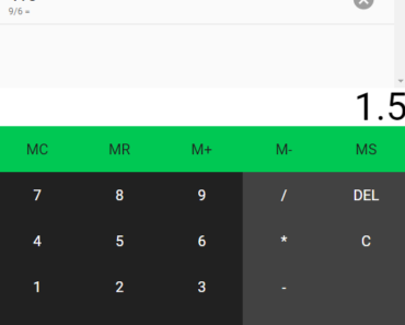 Material Design Calculator In Angular 2