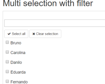 Angular Select Component With Filter