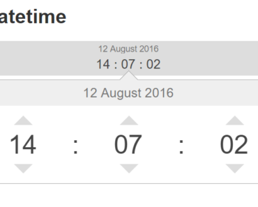 Datetime Input UI Element For Angular