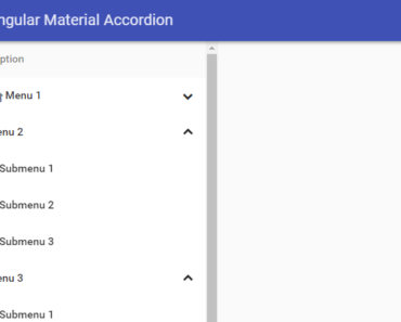 Angular Material Accordion Directive