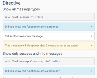 Angular Flash Message Directive