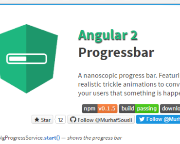 Nano Progress Bar Component For Angular 2