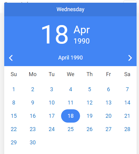 Cuppa DatePicker With Angular JS