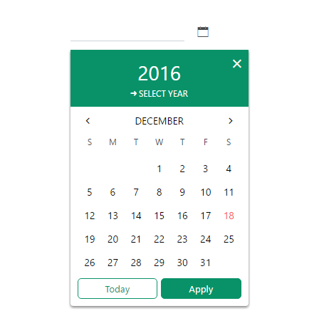 Angular2 Datepicker Component