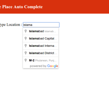 Angular 2 Google Place Auto Complete