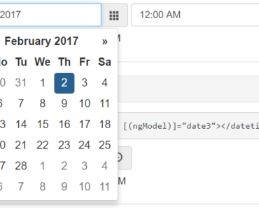 Angular 2 Datetime Picker Component