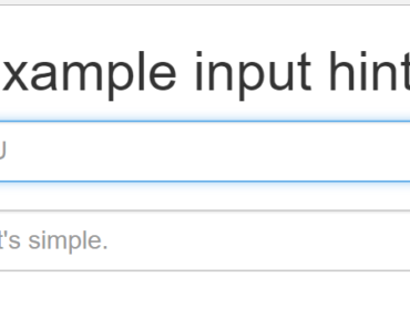 Animated Input Placeholder For Angular