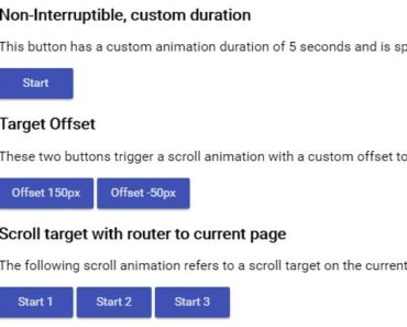 Animated Scrolling Functionality In Angular 2
