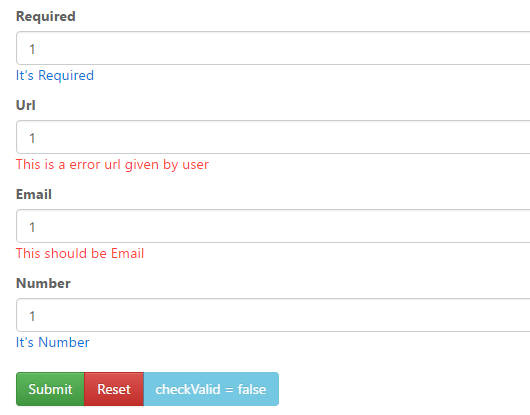 Client Side Validation For AngularJS