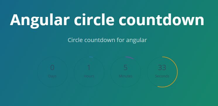 Angular Circle Countdown Directive