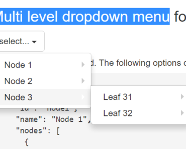 Angular Multi level Dropdown Menu Direcitve