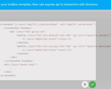Angularjs Directive For Screen Capture