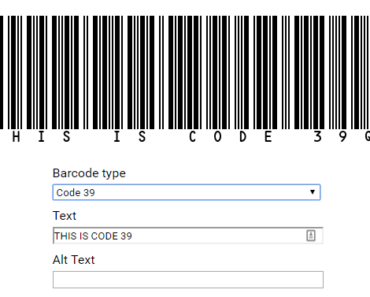 Barcode Generator For Angular