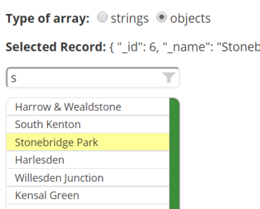 Angular 2 Component For Picking Records