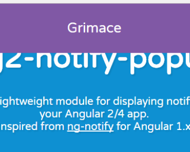 Angular 2+ Notify Popup Component